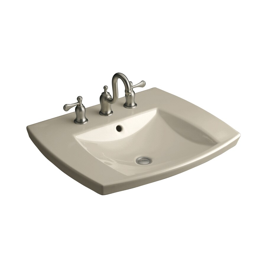 KOHLER Kelston Sandbar Fire Clay Drop-in Rectangular Bathroom Sink with Overflow