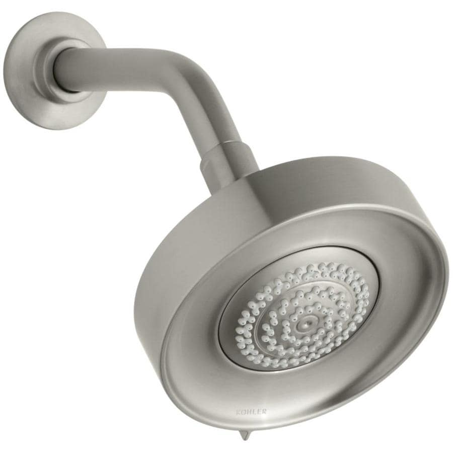 KOHLER Purist 5.5-in 1.75-GPM (6.6-LPM) Vibrant Brushed Nickel 3-Spray WaterSense Rain Showerhead