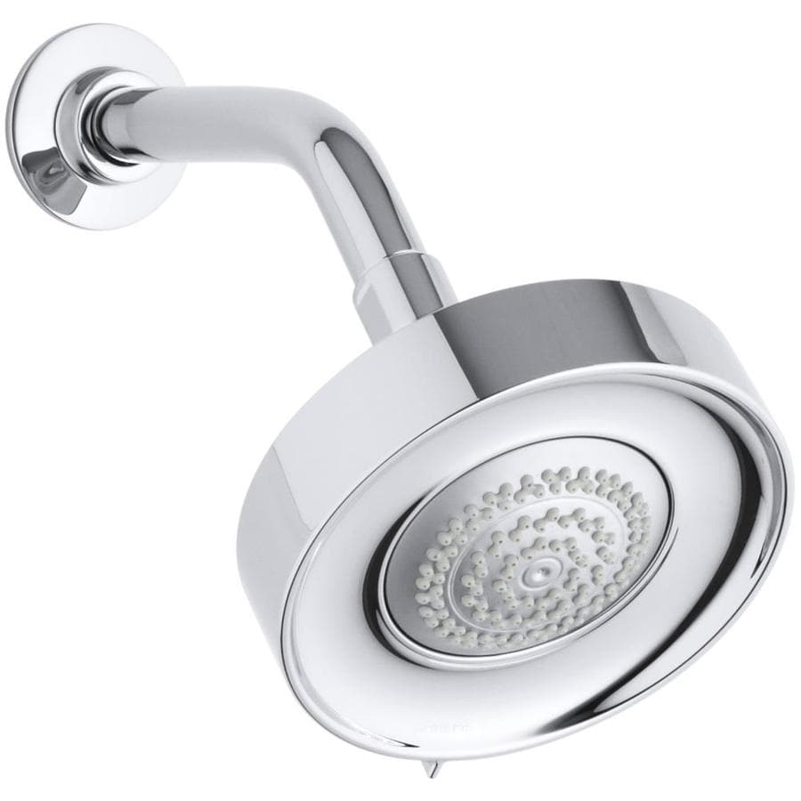 KOHLER Purist 5.5-in 1.75-GPM (6.6-LPM) Polished Chrome 3-Spray WaterSense Rain Showerhead