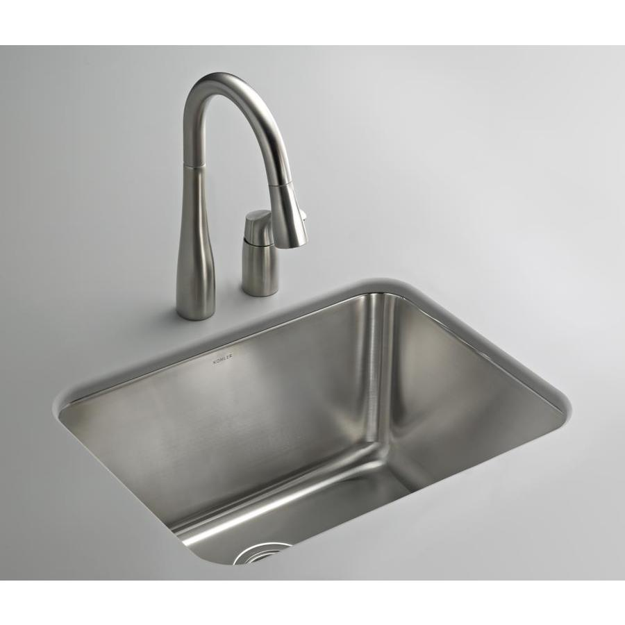 KOHLER 15.75-in x 21.25-in Undermount Stainless Steel Laundry Utility Sink