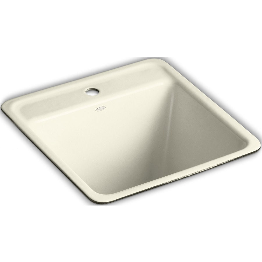 Shop KOHLER Cane Sugar Undermount Cast Iron Utility Tub at Lowes.com
