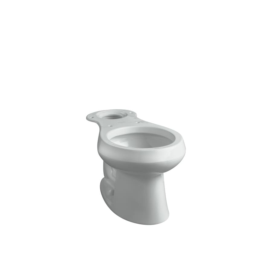 KOHLER Wellworth Standard Height Ice Grey 12-in Rough-In Round Toilet Bowl