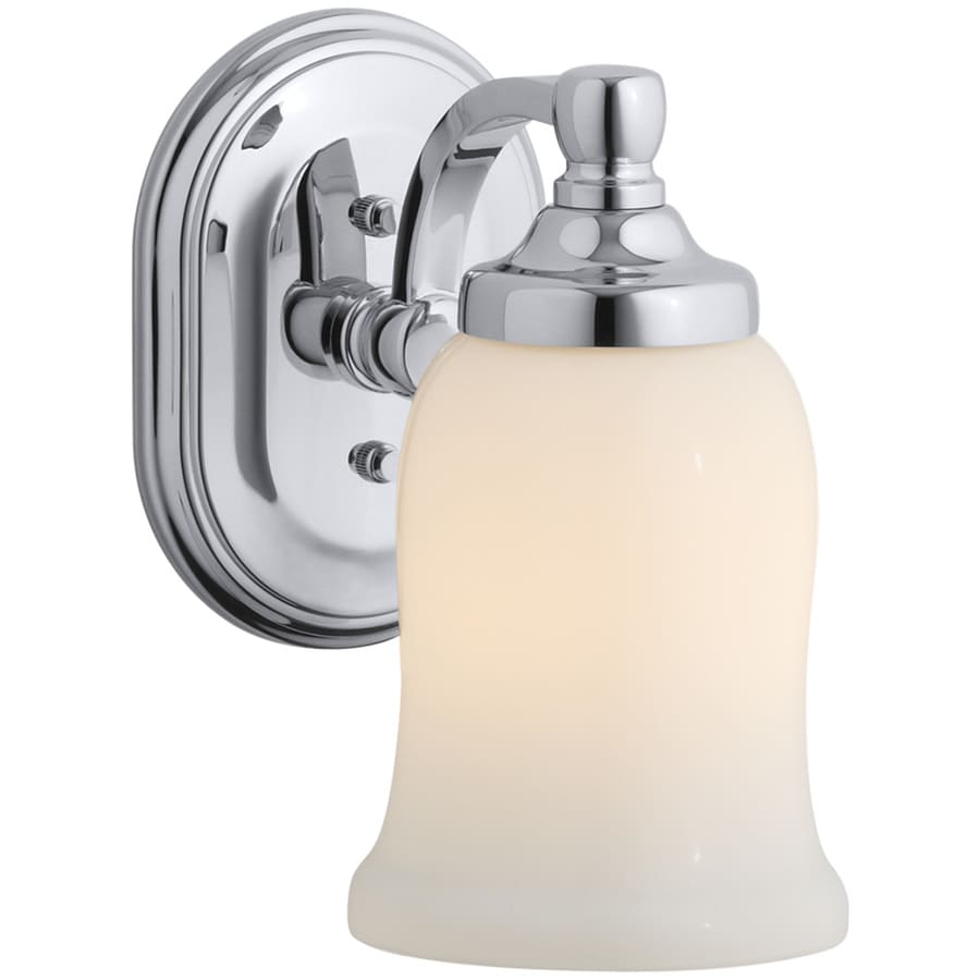 KOHLER Bancroft 4.5-in W 1-Light Polished Chrome Arm Hardwired Wall Sconce
