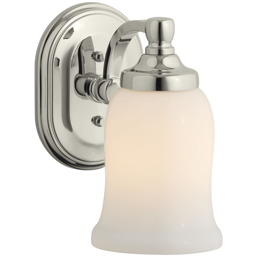 KOHLER Bancroft 4.5-in W 1-Light Vibrant Polished Nickel Arm Hardwired Wall Sconce