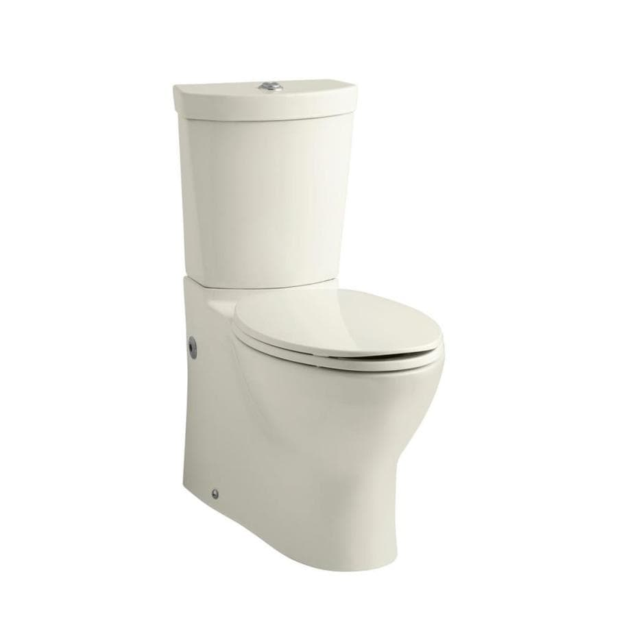 KOHLER Persuade 1.6-GPF (6.06-LPF) Biscuit Dual-Flush Elongated Standard Height 2-Piece Toilet