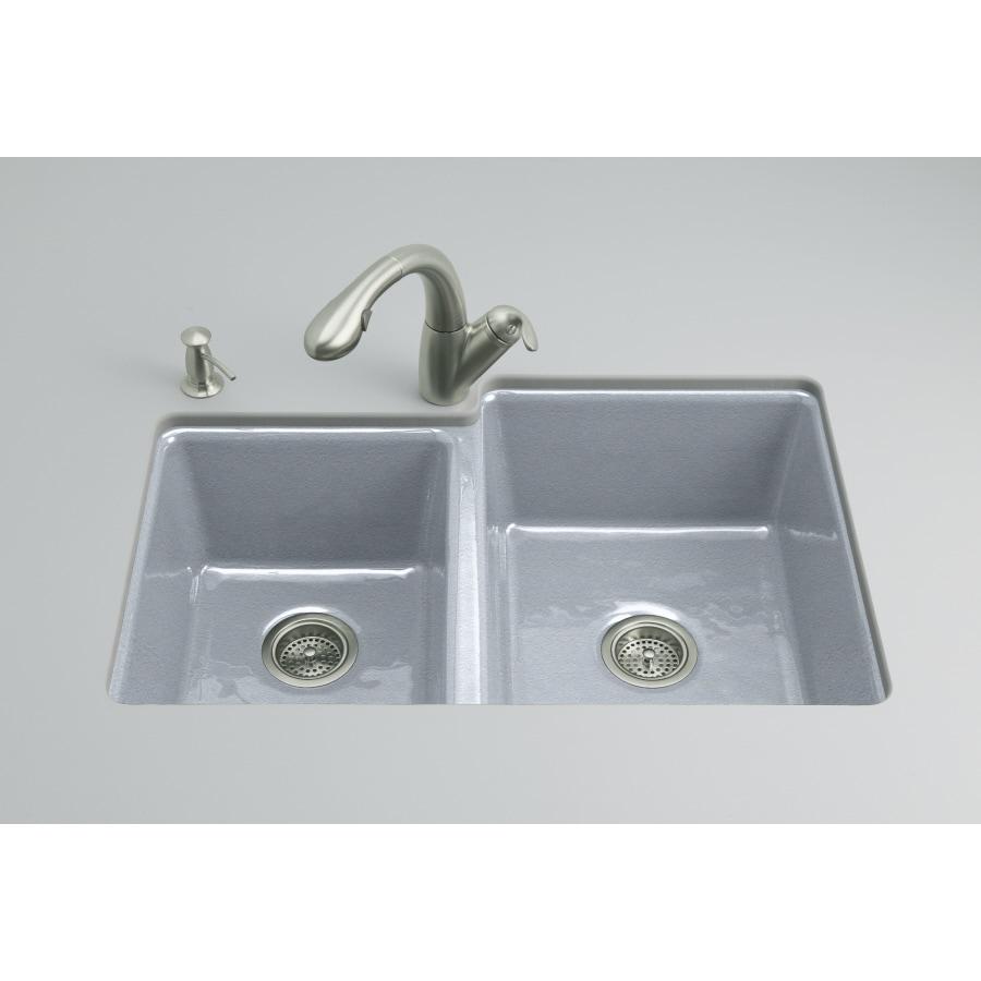Kohler Undermount Kitchen Sinks Lowes: KOHLER Clarity Double-Basin Undermount Enameled Cast Iron