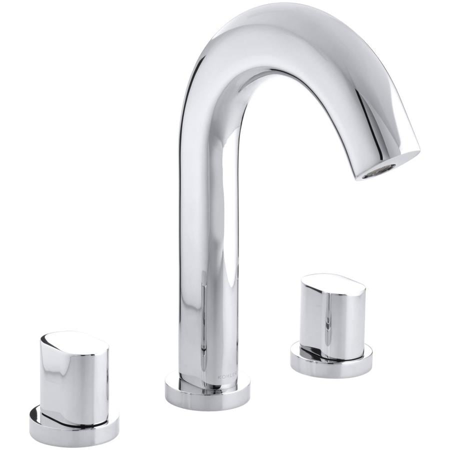 KOHLER Oblo Polished Chrome 2-Handle Deck Mount Bathtub Faucet