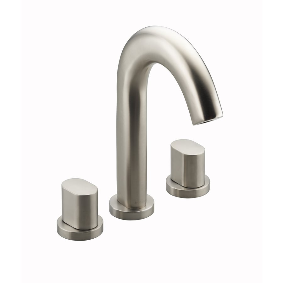 KOHLER Oblo Vibrant Brushed Nickel 2-Handle Fixed Deck Mount Bathtub Faucet