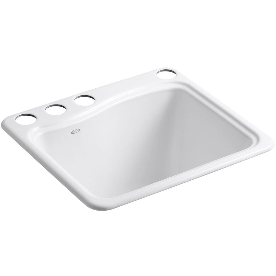 Undermount Utility Sink White : ... .75-in x 21.5-in White Undermount Cast Iron Laundry Sink at Lowes.com
