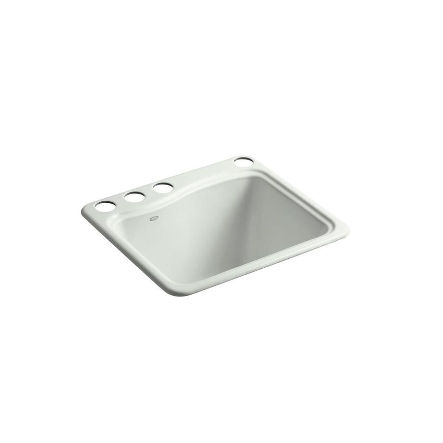 Undermount Utility Sink White : ... 25-in 1-Basin Sea Salt Undermount Cast Iron Utility Tub Utility Sink