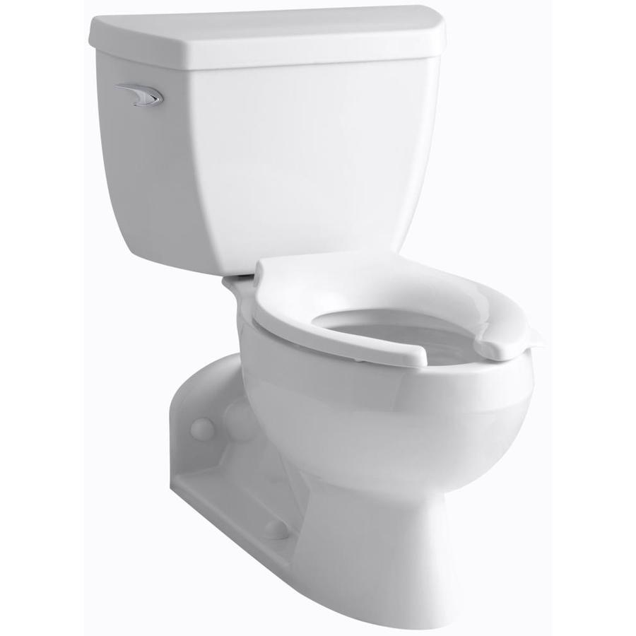KOHLER Barrington White WaterSense Labeled  Elongated Standard Height 2-piece Toilet 4-in Rough-In Size