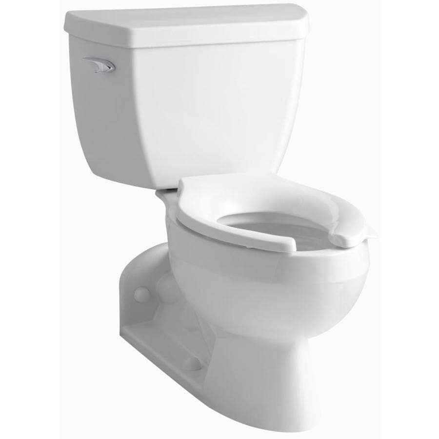 KOHLER Barrington 1 Almond WaterSense Elongated Standard Height 2-Piece Toilet