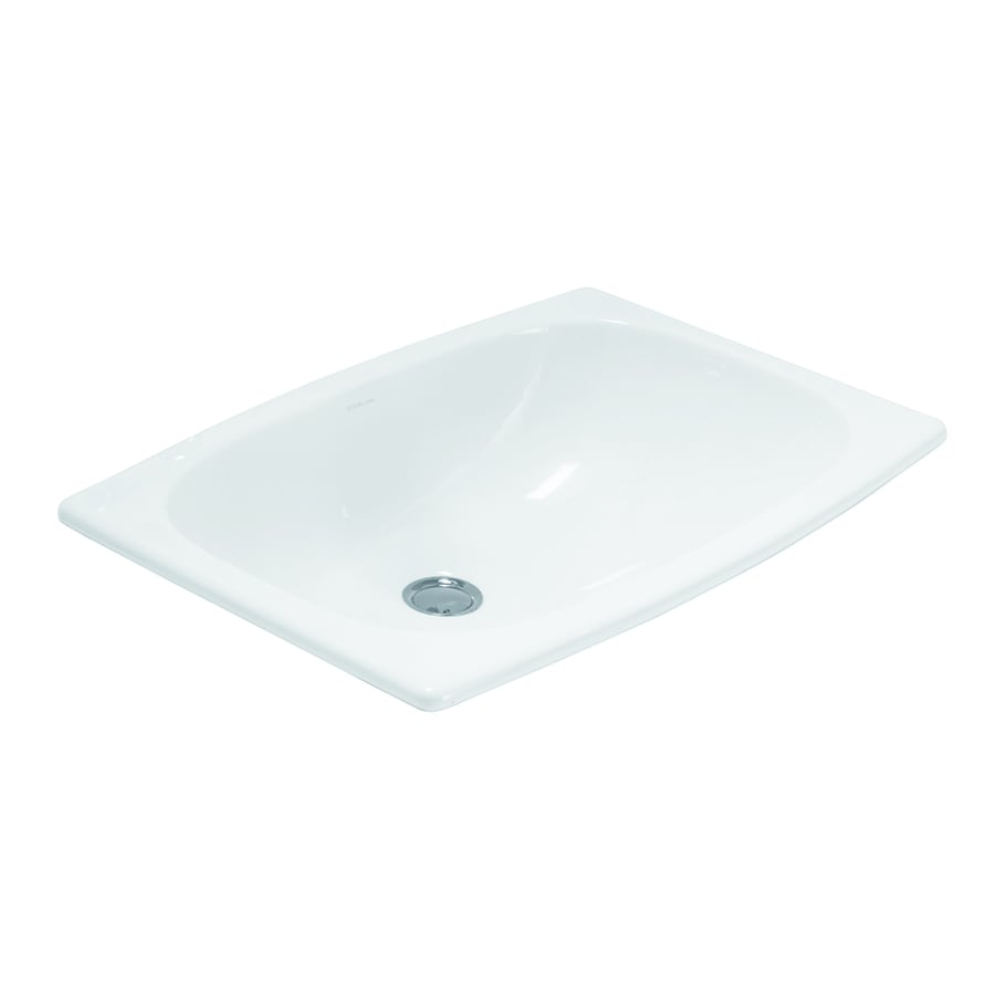 Shop Sterling Stinson White Drop In Rectangular Bathroom Sink With Overflow At