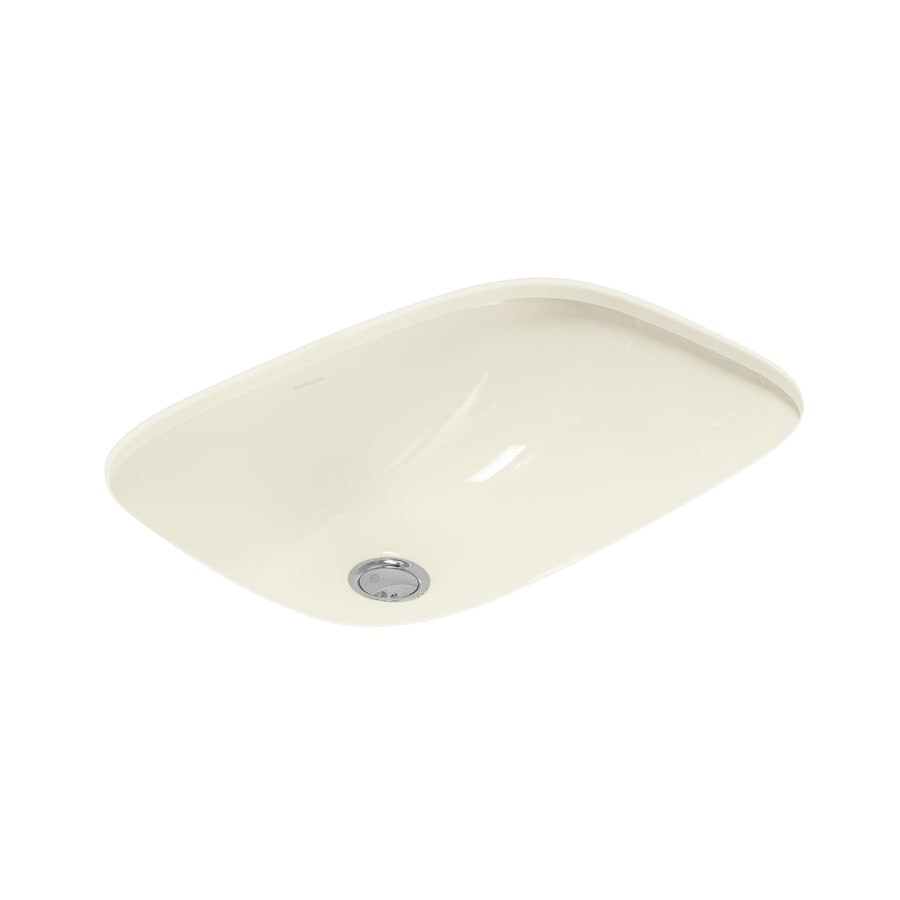 Sterling Stinson Biscuit Undermount Rectangular Bathroom Sink with Overflow