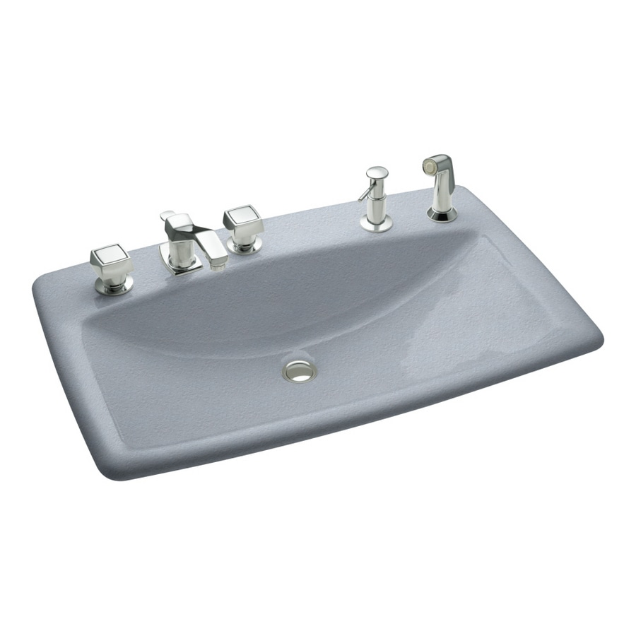 KOHLER Manu0027s Lav Frost Cast Iron Topmount Bath Sink