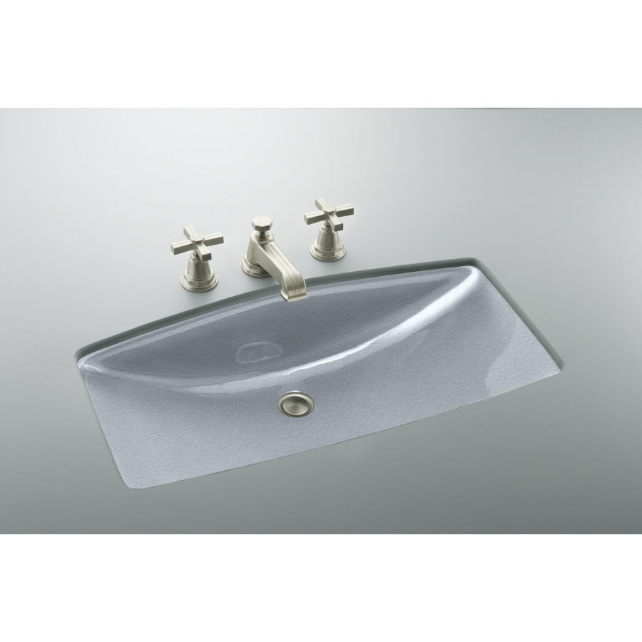 Shop KOHLER ManS Lav Frost Cast Iron Undermount Rectangular Bathroom ...