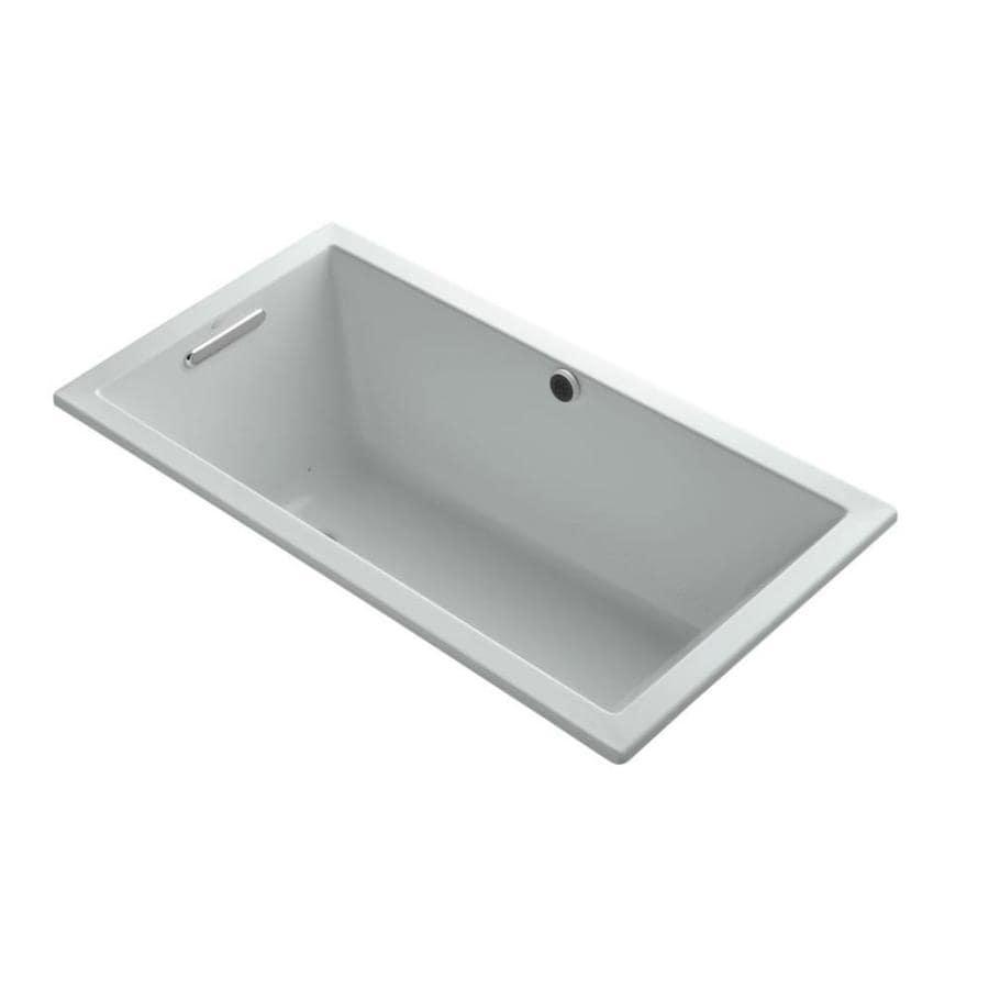 KOHLER Underscore 60-in L x 32-in W x 21-in H Ice Gray Acrylic Rectangular Drop-in Air Bath