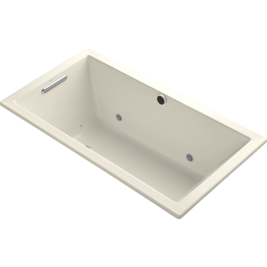 KOHLER Underscore 60-in L x 32-in W x 21-in H Acrylic Rectangular Drop-in Air Bath