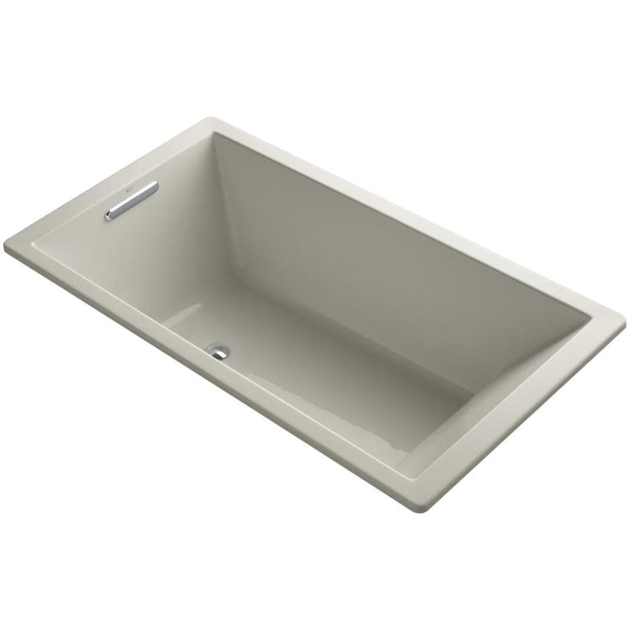 KOHLER Underscore Sandbar Acrylic Rectangular Drop-in Bathtub with Reversible Drain (Common: 36-in x 66-in; Actual: 22-in x 36-in x 66-in)
