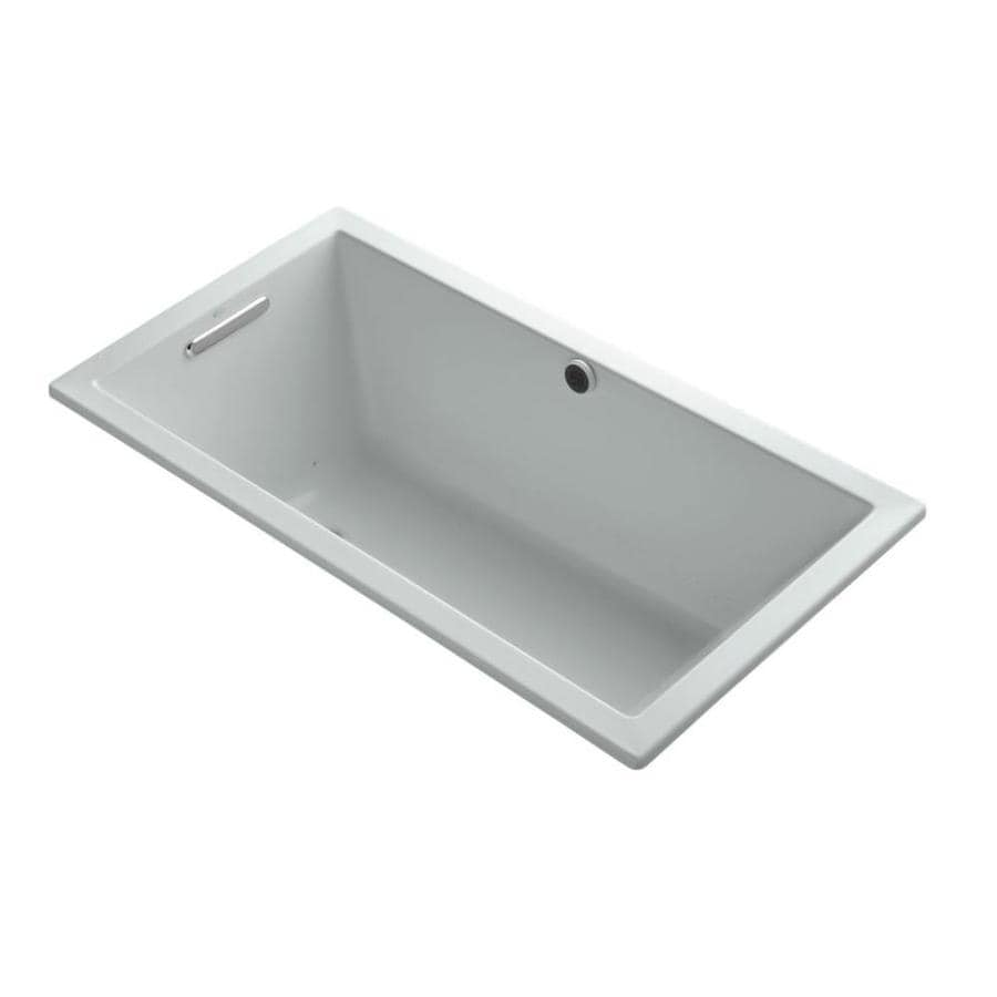 KOHLER Underscore 66-in Cashmere Acrylic Drop-In Air Bath with Front Center Drain