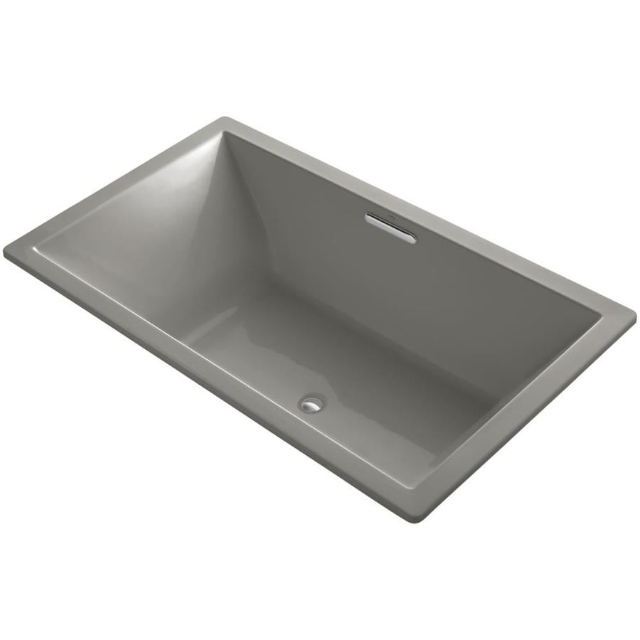 KOHLER Underscore 72-in Cashmere Acrylic Drop-In Bathtub with Reversible Drain