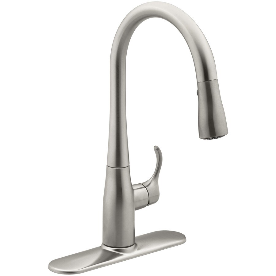 KOHLER Simplice Vibrant Stainless 1-Handle Bar and Prep Faucet