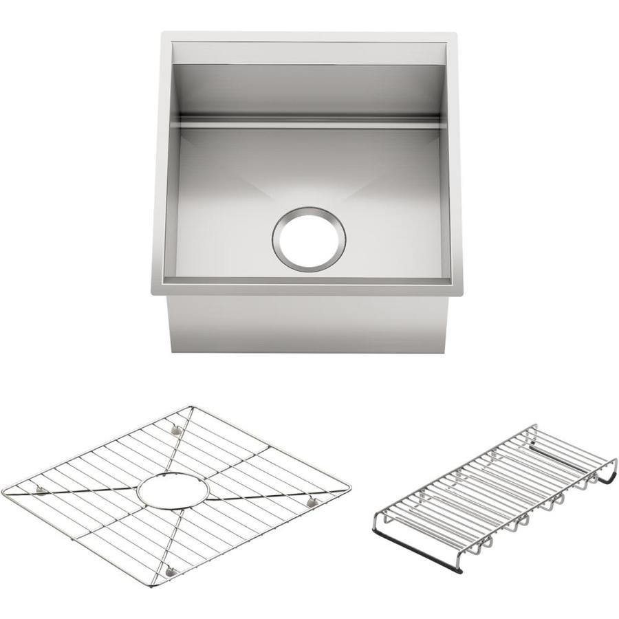 KOHLER 8 Degree Stainless Steel Undermount Commercial/Residential Bar Sink