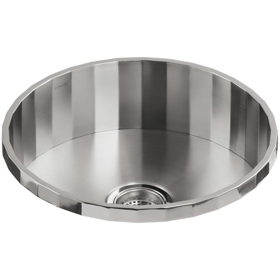 KOHLER Brinx Stainless Steel Drop-in Commercial/Residential Bar Sink ...