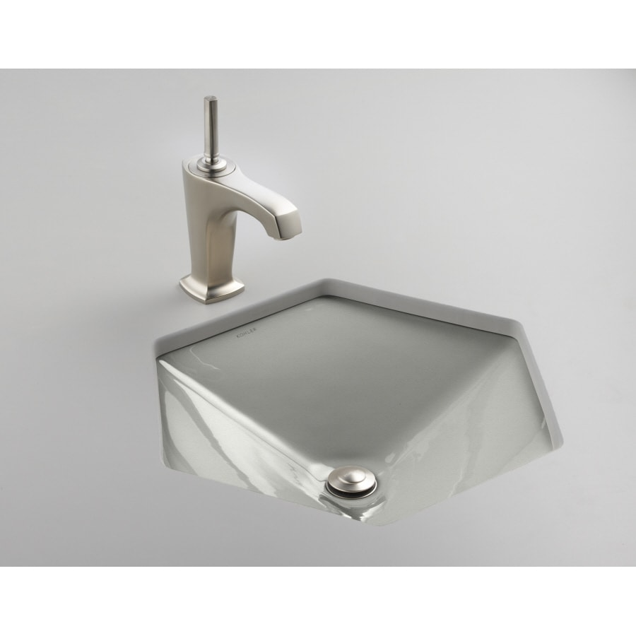 Shop kohler votive sea salt cast iron undermount hexagonal bathroom sink at Kohler cast iron bathroom sink