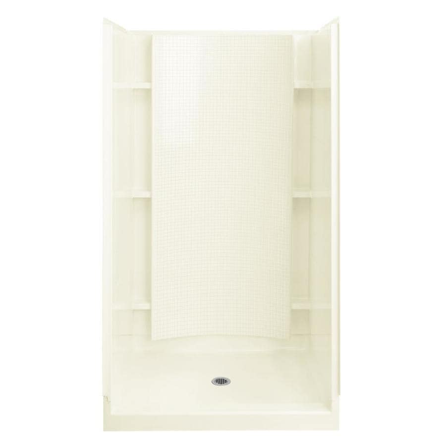 Sterling Accord Biscuit 4-Piece Alcove Shower Kit (Common: 36-in x 42-in; Actual: 36-in x 42-in)
