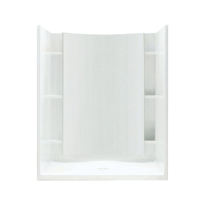 Accord White Vikrell Wall And Floor 4 Piece Alcove Shower Kit Common 36 In X 48 Actual 77
