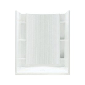 Sterling Accord White Vikrell Wall And Floor 4 Piece Alcove Shower Kit Common