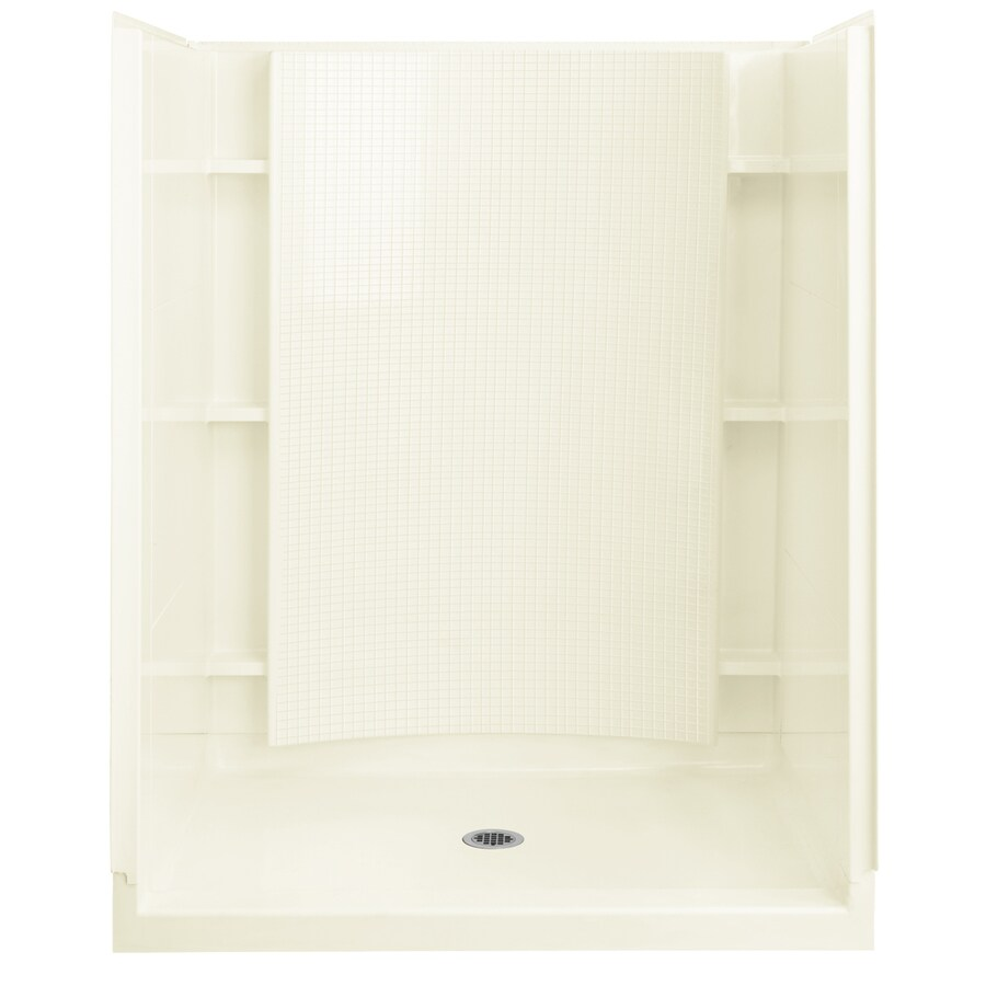 Sterling Accord Biscuit 4-Piece Alcove Shower Kit (Common: 36-in x 60-in; Actual: 36-in x 60-in)