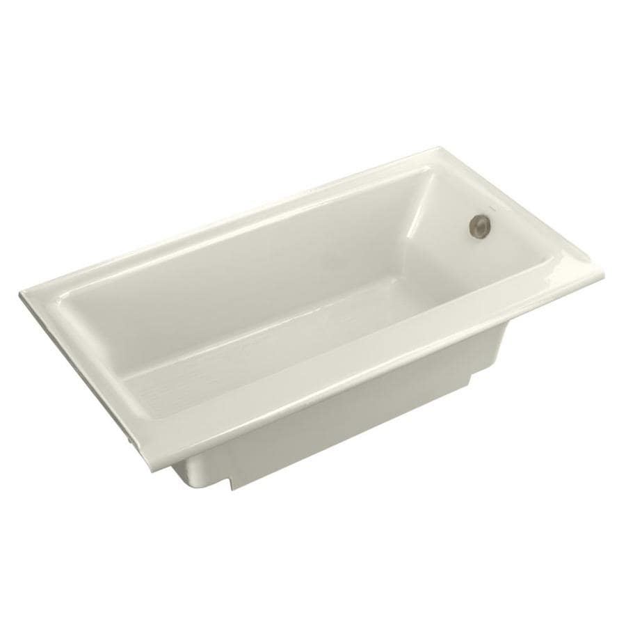 kohler highbridge biscuit cast iron rectangular skirted bathtub with