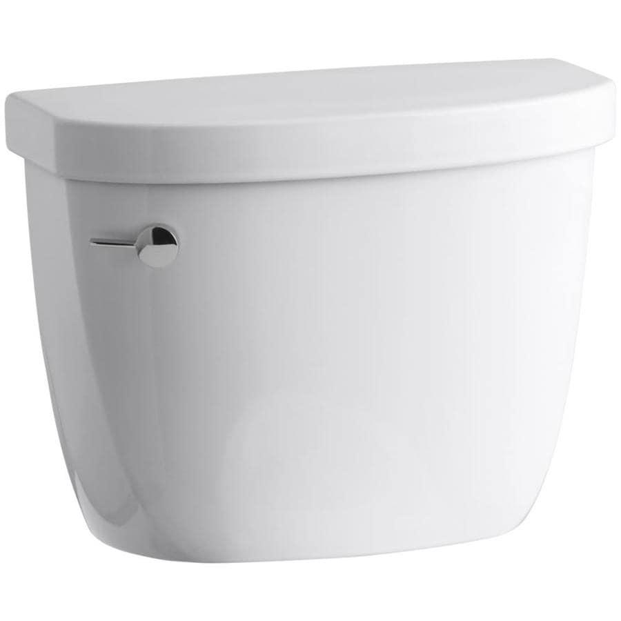 KOHLER Cimarron White 1.6-GPF Single-Flush Toilet Tank