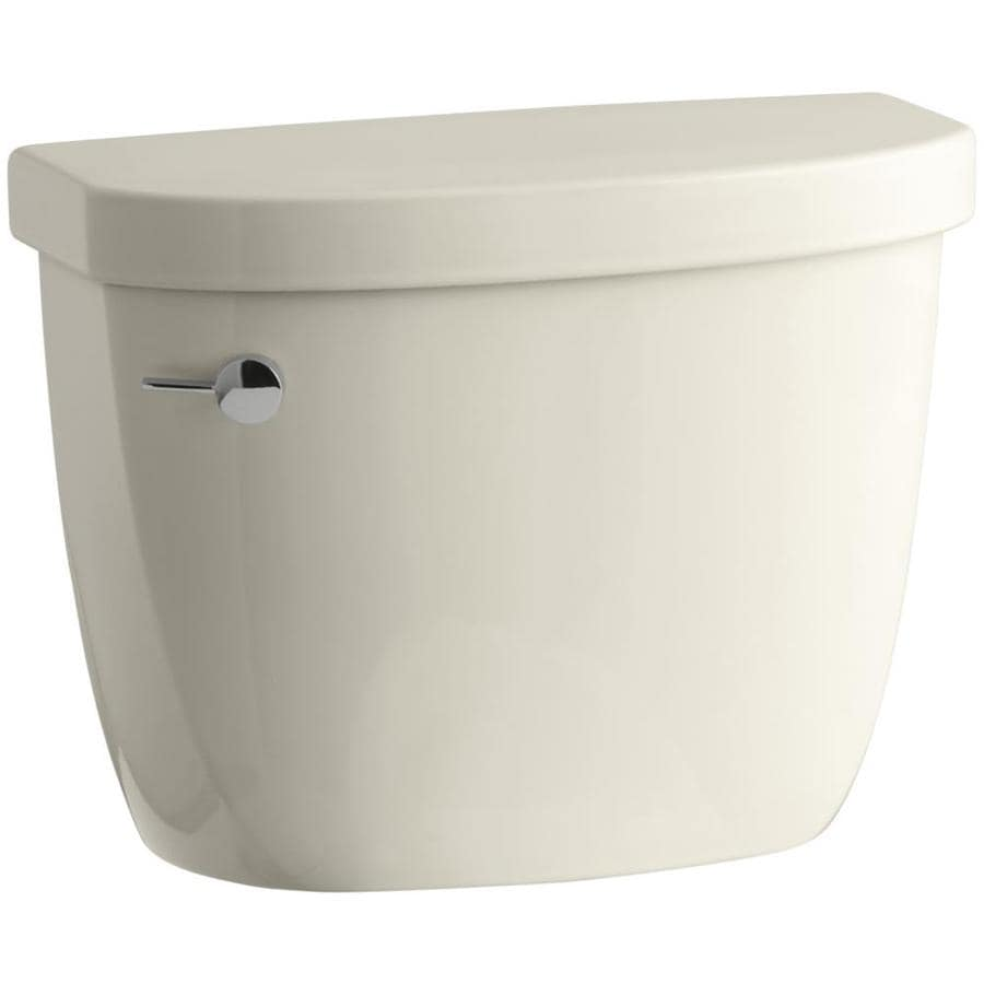 KOHLER Cimarron Almond 1.6-GPF (6.06-LPF) 12-in Rough-In Single-Flush Toilet Tank