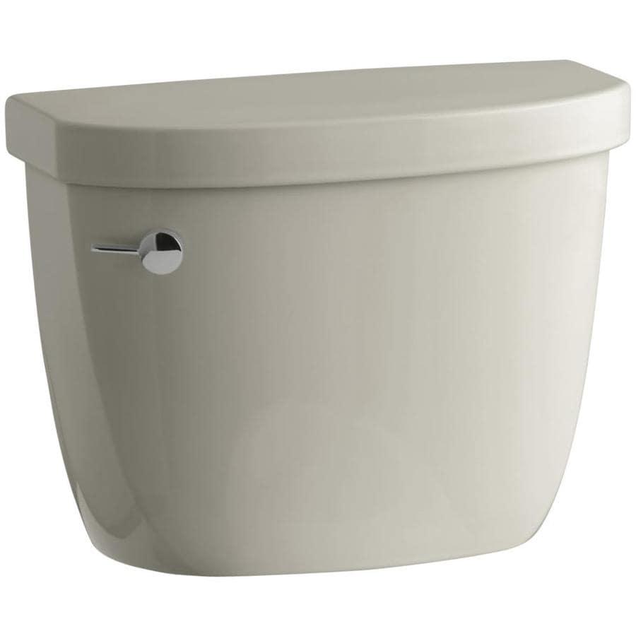 KOHLER Cimarron Sandbar 1.6-GPF (6.06-LPF) 12-in Rough-In Single-Flush Toilet Tank