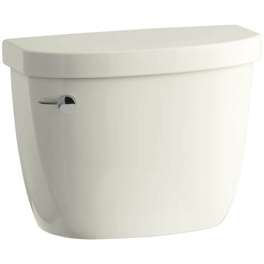 KOHLER Cimarron Biscuit 1.28-GPF (4.85-LPF) 12-in Rough-In Single-Flush Toilet Tank