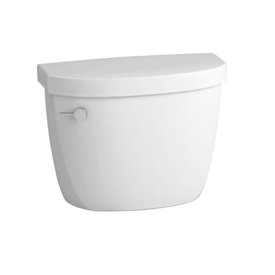 KOHLER Cimarron White 1.6-GFP (6.06-LPF) 12-in Rough-in Single-Flush Toilet Tank