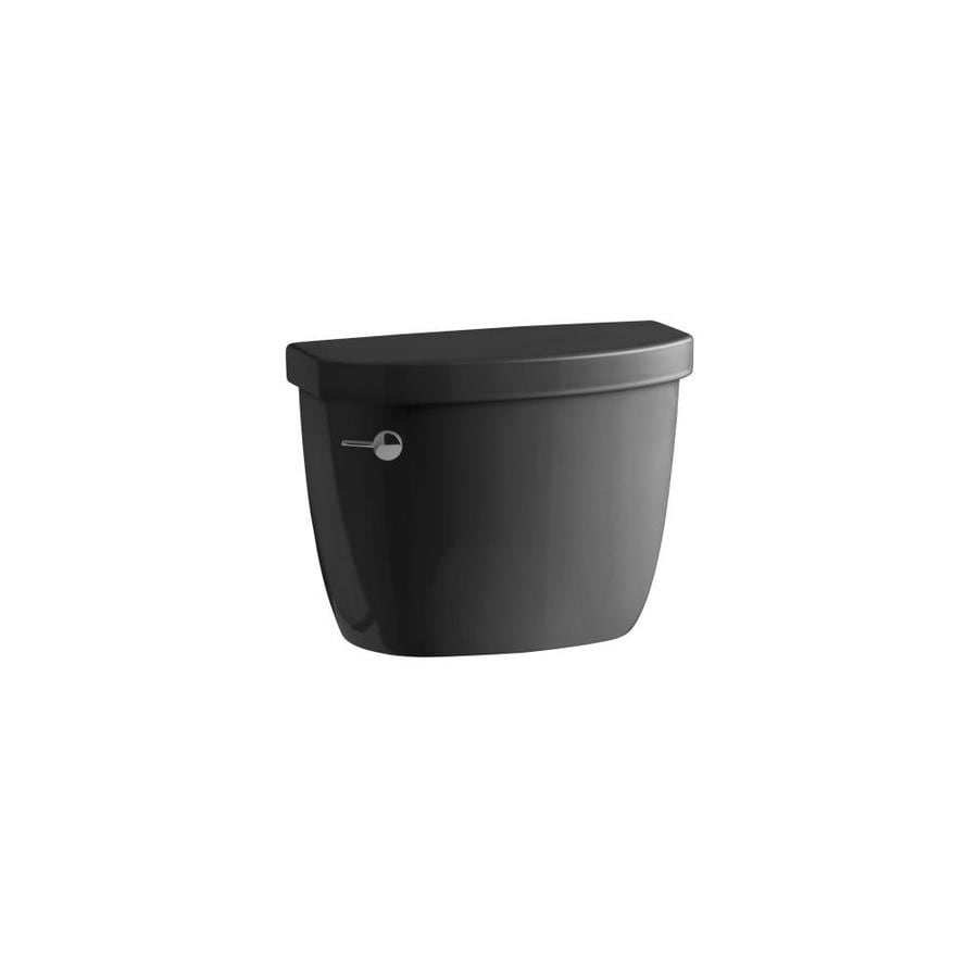 KOHLER Cimarron Black 1.6-GFP (6.06-LPF) 12-in Rough-in Single-Flush Toilet Tank