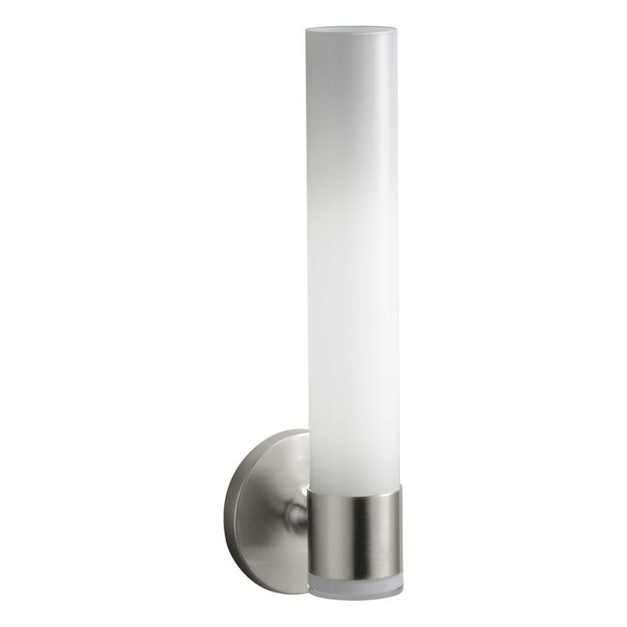 KOHLER Purist 4.75-in W 2-Light Vibrant Brushed Nickel Arm Wall Sconce