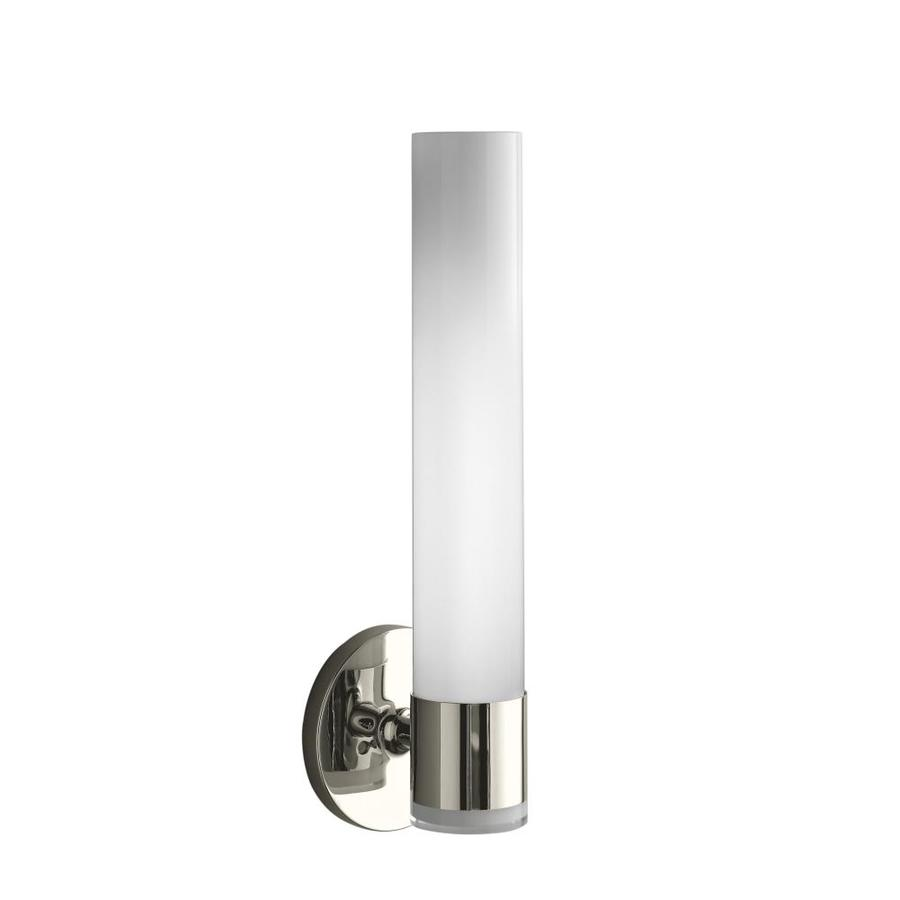 KOHLER Purist 4.75-in W 2-Light Vibrant Polished Nickel Arm Wall Sconce