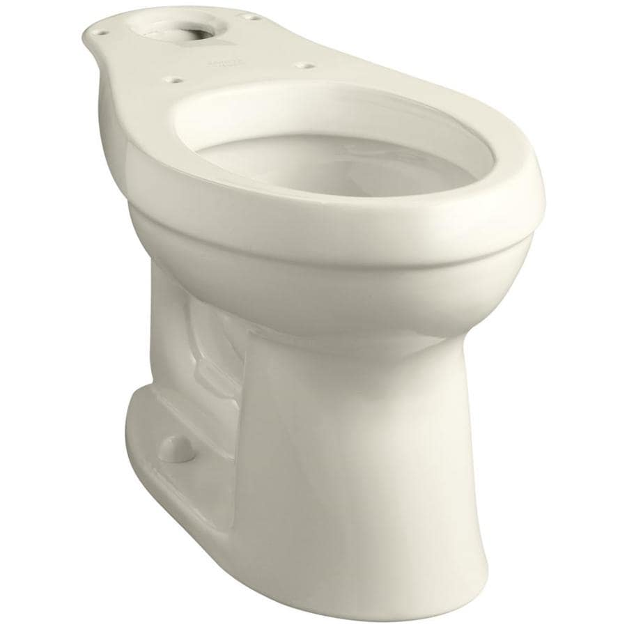 KOHLER Cimarron Chair Height Almond 12-in Rough-In Elongated Toilet Bowl