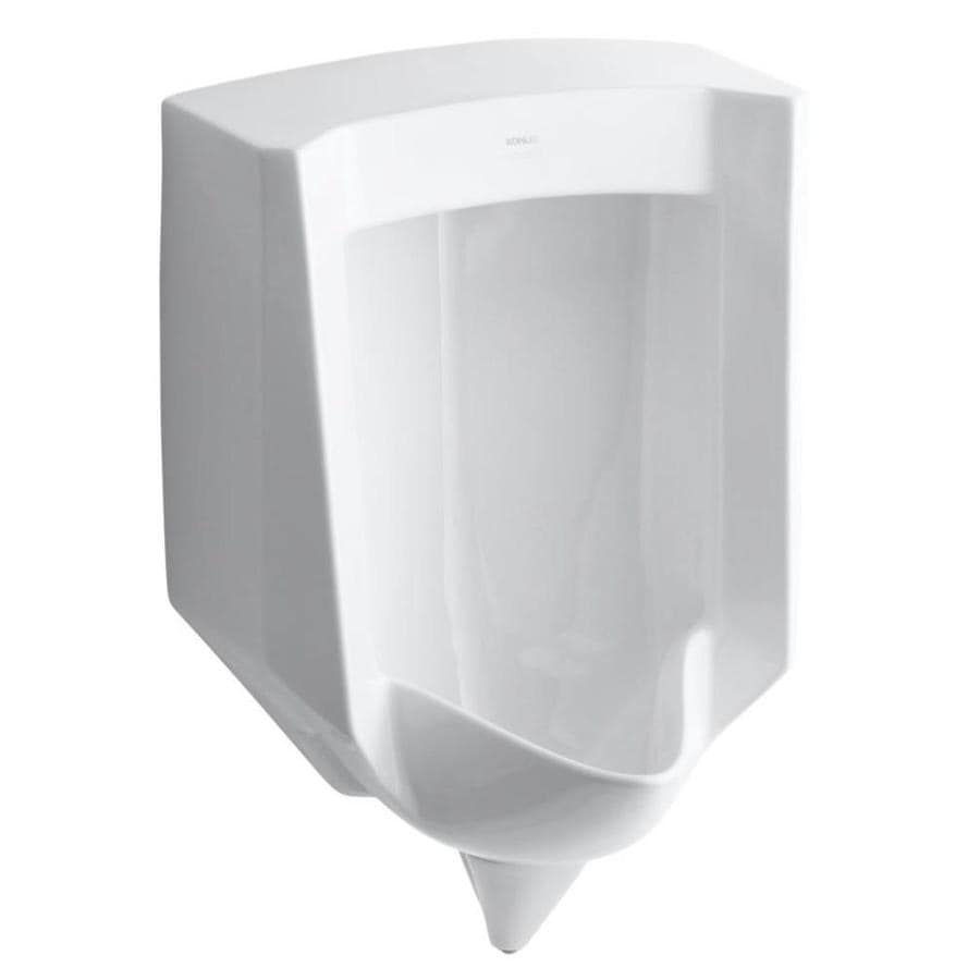 KOHLER 18.125-in W x 27.625-in H White Wall-Mounted Urinal