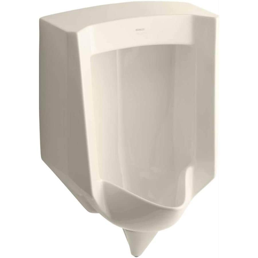 KOHLER 18.25-in W x 27.625-in H Almond Wall-Mounted Urinal