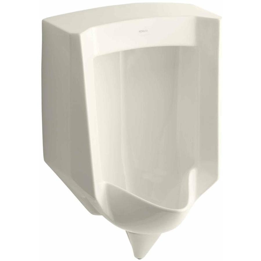 KOHLER 18.25-in W x 27.625-in H Biscuit Wall-Mounted Urinal