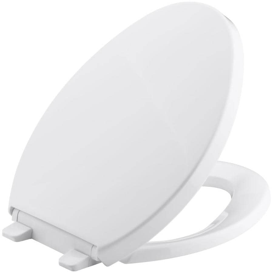 KOHLER Saile White Plastic Elongated Toilet Seat