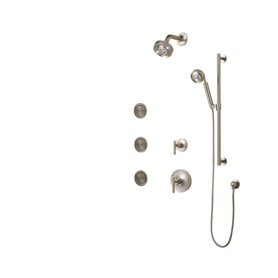 Shop KOHLER Purist Vibrant Brushed Nickel 2-Handle Shower Faucet ...