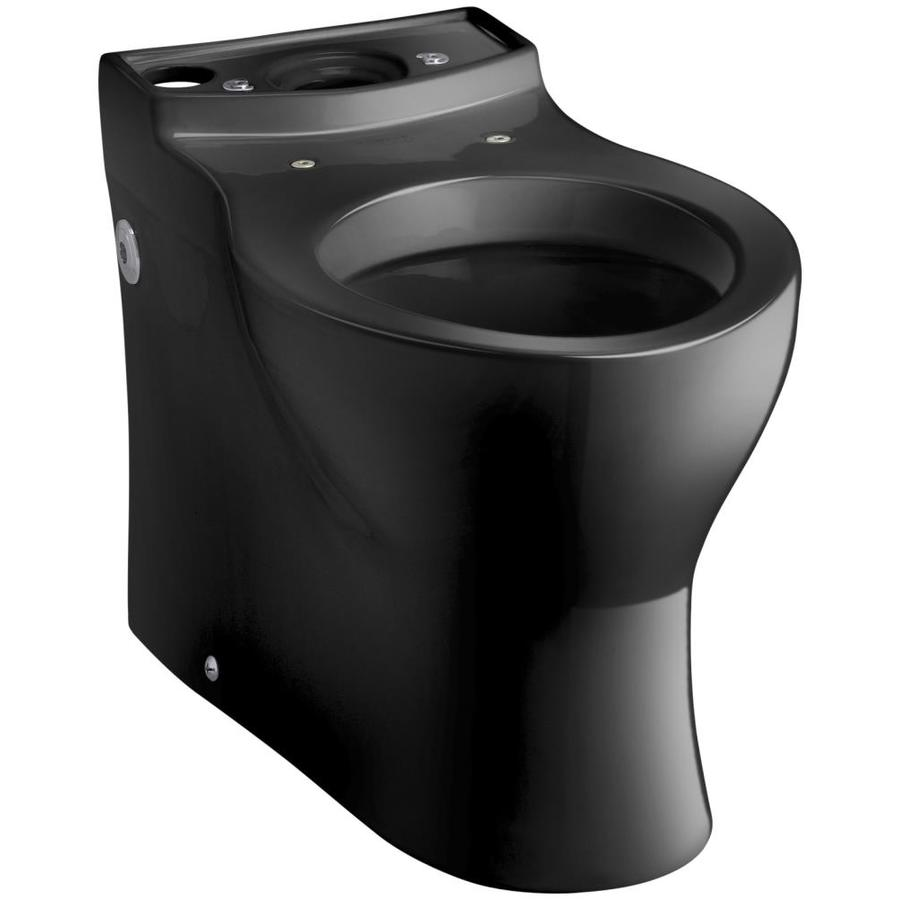 KOHLER Persuade Black Black Elongated Height Toilet Bowl