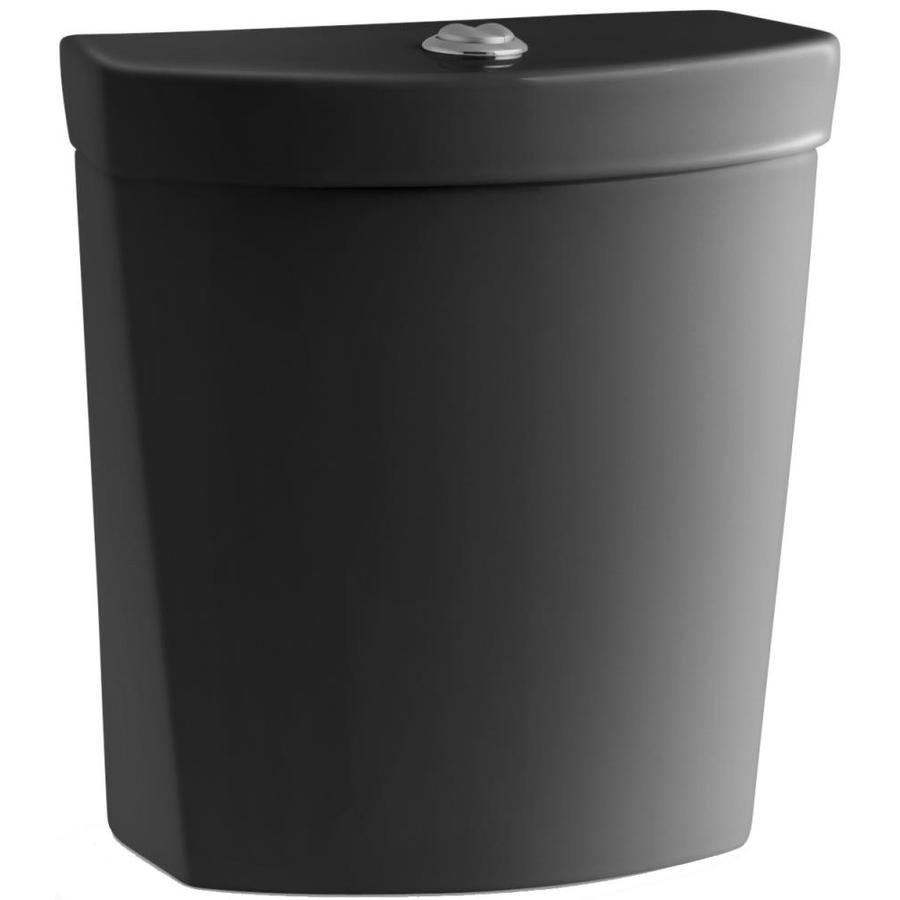 KOHLER Persuade Black Black 1.6-GPF 12-in Rough-In Dual-Flush Toilet Tank